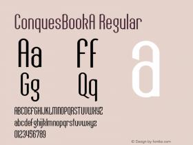 ConquesBookA Regular Macromedia Fontographer 4.1 12/19/97 Font Sample