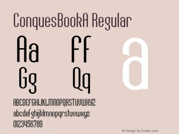 ConquesBookA Regular Macromedia Fontographer 4.1 12/19/97 Font Sample