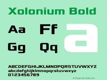 Xolonium Bold Version 4.1图片样张