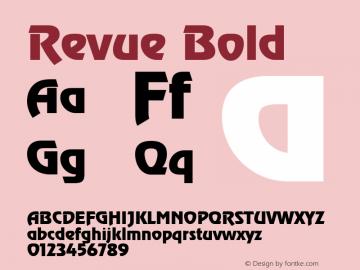 Revue Bold 1.0 Font Sample