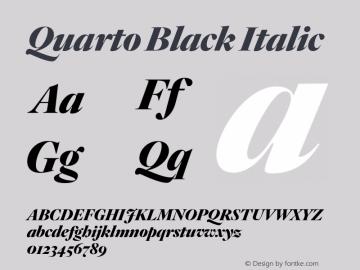Quarto Black Italic Version 1.200 Font Sample