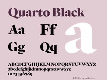 Quarto Black Version 1.200 Font Sample