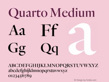Quarto Medium Version 1.200 Font Sample
