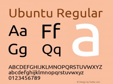 Ubuntu Regular 0.83 Font Sample