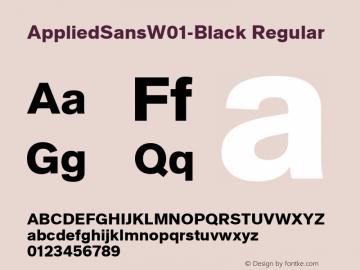 AppliedSansW01-Black Regular Version 1.00图片样张