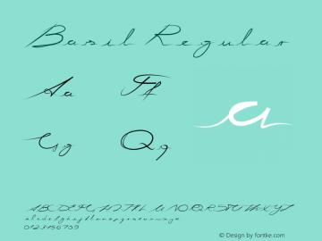 Basil Regular Version 1.00 November 28, 2016, initial release Font Sample