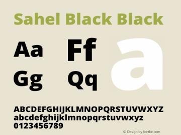Sahel Black Black Version 1.0.0-alpha7 Font Sample