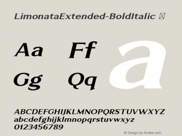 LimonataExtended-BoldItalic ☞ Version 1.000;com.myfonts.easy.chank.limonata.extended-bold-italic.wfkit2.version.4DfW Font Sample