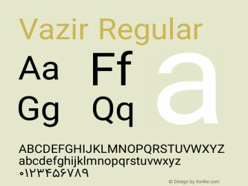 Vazir Regular Version 6.0.0 Font Sample