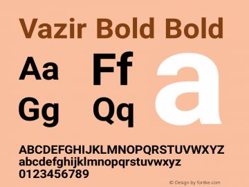 Vazir Bold Bold Version 6.0.0 Font Sample