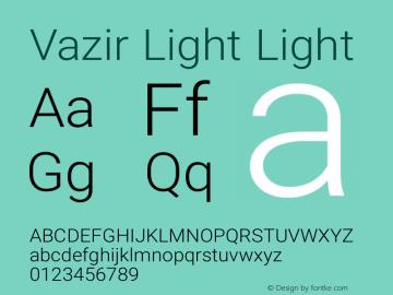 Vazir Light Light Version 6.0.0 Font Sample