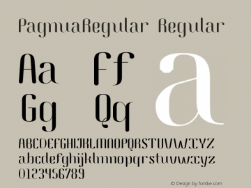 PagnuaRegular Regular Version 1.001 2015 Bogotá Font Sample