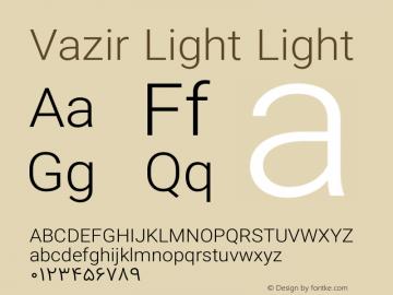 Vazir Light Light Version 6.1.0 Font Sample