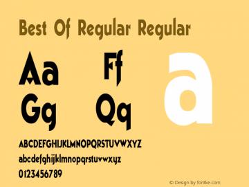 Best Of Regular Regular Altsys Metamorphosis:11/13/94 Font Sample