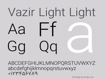 Vazir Light Light Version 6.2.0 Font Sample