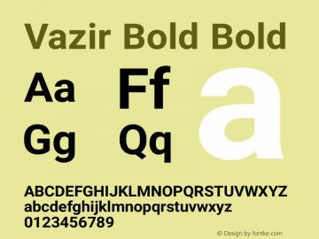 Vazir Bold Bold Version 6.2.0 Font Sample