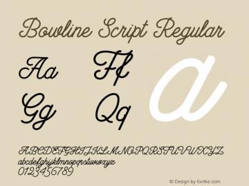 Bowline Script Regular Version 1.10 November 16, 2016 Font Sample