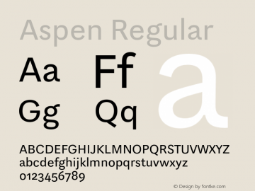 Aspen Regular Version 1.001图片样张