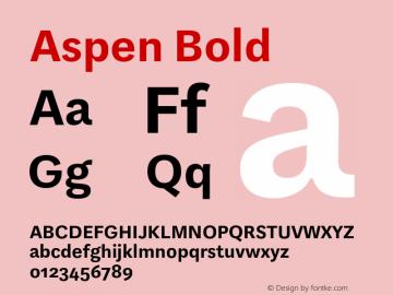 Aspen Bold Version 1.001图片样张
