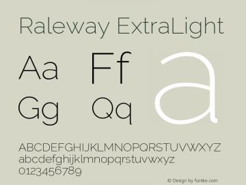 Raleway ExtraLight Version 001.001图片样张