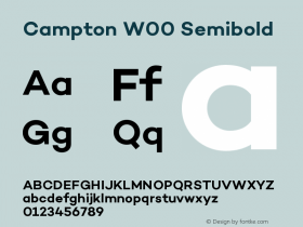 Campton W00 Semibold Version 1.00 Font Sample
