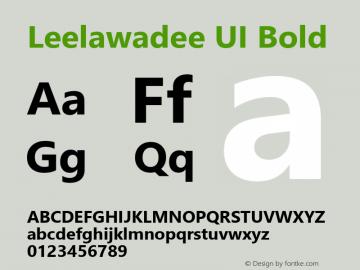Leelawadee UI Bold Version 5.05图片样张