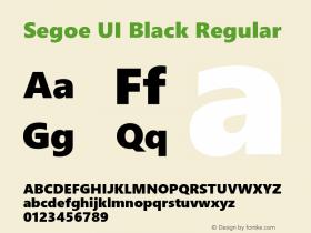 Segoe UI Black Regular Version 2.00图片样张