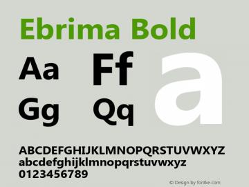 Ebrima Bold Version 5.11 Font Sample