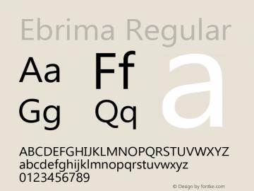 Ebrima Regular Version 5.11 Font Sample