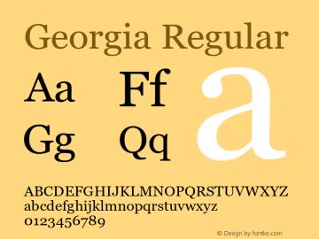 Georgia Regular Version 5.58图片样张