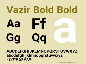 Vazir Bold Bold Version 6.3.0 Font Sample