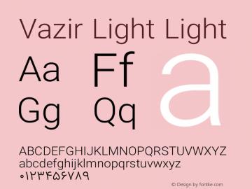 Vazir Light Light Version 6.3.0 Font Sample