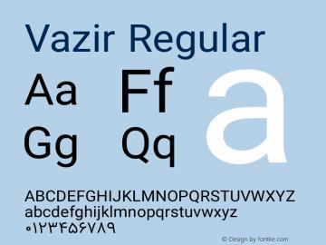 Vazir Regular Version 6.3.0 Font Sample