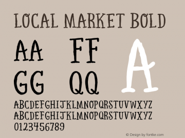 Local Market Bold Version 1.000 Font Sample