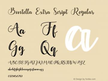 Bontella Extra Script Regular Version 1.000图片样张