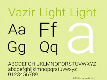 Vazir Light Light Version 6.3.1 Font Sample