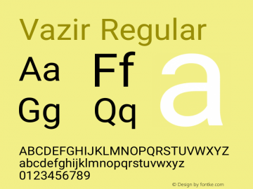 Vazir Regular Version 6.3.1 Font Sample