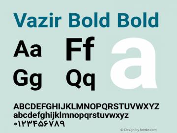 Vazir Bold Bold Version 6.3.1 Font Sample