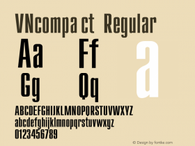 VNcompact Regular Converted from t:\CMN.TF1 by ALLTYPE Font Sample