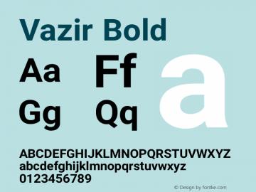 Vazir Bold Version 6.3.2 Font Sample