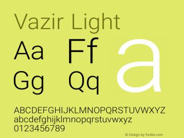 Vazir Light Version 6.3.2 Font Sample