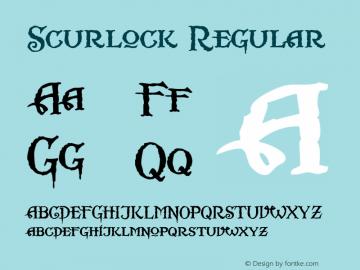 Scurlock Regular Altsys Fontographer 4.0.3 7/7/99图片样张