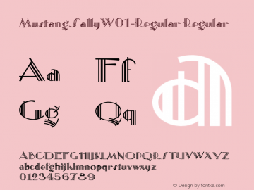 MustangSallyW01-Regular Regular Version 1.00 Font Sample