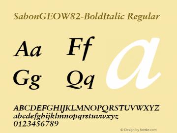 SabonGEOW82-BoldItalic Regular Version 1.00图片样张