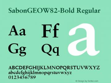 SabonGEOW82-Bold Regular Version 1.00图片样张