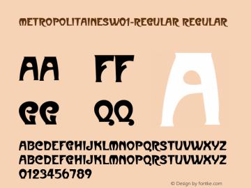 MetropolitainesW01-Regular Regular Version 1.00图片样张