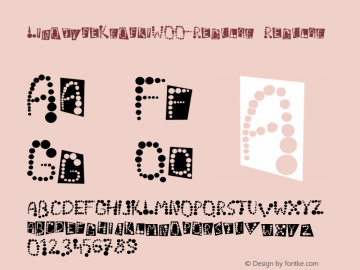 LinotypeKropkiW00-Regular Regular Version 3.00 Font Sample