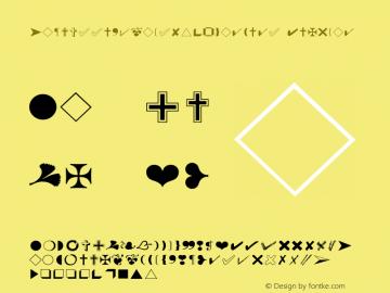 ZapfEssentialsW95-Markers Regular Version 1.10 Font Sample