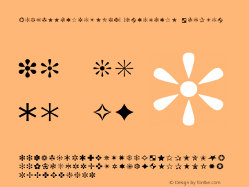 ZapfEssentialsW95-Ornaments Regular Version 1.10 Font Sample