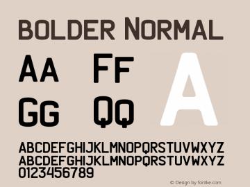 bolder Normal Version 1.000 Font Sample